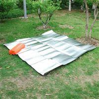 aluminum floor mats - Double sided aluminum moisture pad picnic mat camping mat tent floor mats with the outer bag CM
