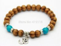 best food products - 2014 New Products Best Quality mm Beaded Wood Beads Fatima Hand Hamsa Bracelets New OM Yoga Jewelry