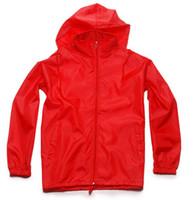 Wholesale 2016 high quality Autumn men s sports jacket Outdoor sportswear Thin Windbreaker jacket Zipper Coats Outwear men s clothing