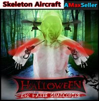 Wholesale Halloween gift Skeleton Luminous LED Lights Flash Aircraft Colorful Holiday Unmanned Aerial Wehicle with Controller For Christmas Gifts