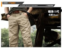 Wholesale 2016 New men waterproof tactical pants with knee pads outdoor sport camping hiking sportswear