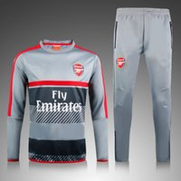 arsenal suit jacket - Arsenal new football take exercise training suit jacket with zipper closed football pants suit top quality