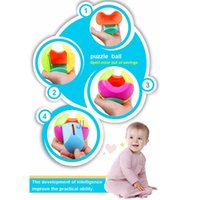 baby puzzle ball - Baby Puzzle Ball Hand Shake Bell Ring Rattle Piggy Bank Money Coin Saving Pot Children Gift GYH