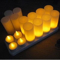 amber stick - Rechargeable Portable Tea Light Candles with Flickering Amber LED Holders with Charging Station for Decoration Festivals Weddings