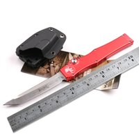 auto gear tools - WTT MICROTECH HALO V T E Knife Single Action Auto Tactical Knife Pocket Hunting Survival Knives Outdoor Camping Gear Tools With Kydex Sheath