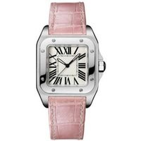 Wholesale Luxury Top Brand Women Tank Watches Geneva Genuine Leather Quartz Watches High Quality Fashion Lady Santo Watches
