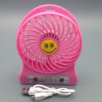 Wholesale F95B Portable Mini USB Fan Rechargeable Battery mini Fan LED Lamp for Indoor Outdoor Kids Table Mini Fan MAH Battery F95B Portable Min