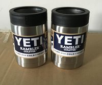 beer in cans - 12 oz Stainless Steel Colster can Yeti Coolers Rambler Colster YETI Cars Beer Mug Insulated Koozie oz Cups in Stock