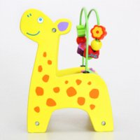 Wholesale Baby Toys Wooden Eeducational Toy Animal Beads Maze of Calculation Baby Early Learning Math Toys Gift