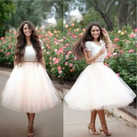 bandage cover - Charming New Short Sleeve Ball Gown Summer Tea Length Lace Cocktail Dresses and Tulle Prom Dresses Party Dress vestido de festa