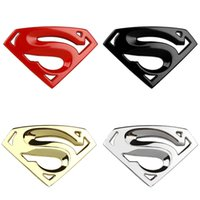 auto chrome accessories - 3D M chrome emblem Auto logo Motorcycle accessories Funny car stickers Superman badge metal Universal Car styling