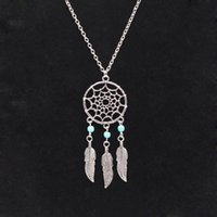 Wholesale 2016 Indian dream catcher dreamcatcher ms pendant necklace to restore ancient ways is hollow out sweater chain The joining together of four