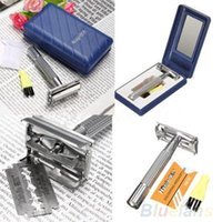 Wholesale Men s Safety Classic face care Traditional Double Edge Shave Shaving Hair Blade Razor V2