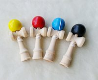 ball tributes - smallest size cm small Japanese beech Game Kendama Ball colorful PU Paint tribute professional wood game toy free DHL