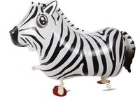 balloons zebra - Aluminum balloon balloon balloon pet balloon cartoon toys balloon children balloon walking zebra