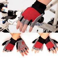 Wholesale Outdoor riding gloves semi finger men and women breathable non slip short finger bike gloves