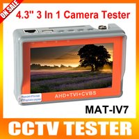 Portátil 3 en 1 AHD + TVI + CVBS Probador de Cámara 1080P Probador de Cámara CCTV de 4.3 pulgadas LCD Video Test 5V / 12V de potencia de salida Cable de prueba
