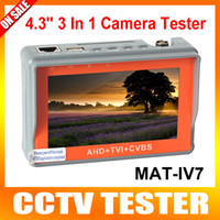 Wholesale Portable in AHD TVI CVBS Camera Tester P CCTV Camera Tester Inch LCD Video Test V V Power Output Cable Test