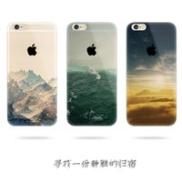 Wholesale Tpu Soft Shell Thin Transparent Shell Phone CASES IPhone6 Plus Landscape Snowy Landscape Mobile Phone Accessories S inch