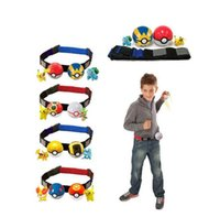 action figures sports - Poke Elf Ball Action Figure Clip Pokeball Stretch Belt Styles Cartoon Pikachu Poke Mon Go Telescopic belt set Charmander Jeni Turtle Toys