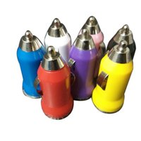 Wholesale Mini USB Car Charger Universal USB Adapter Colorful Car Charger for cell phone iPhone s s c samsung s3 s4 s5 DHL