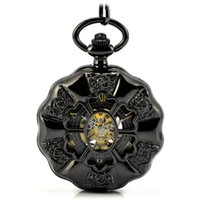 Wholesale Antique Case Pocket Watch Vine Mechanical Hand Wind Pocke Before Christmas Dial Pendant Necklace Chain Gifts