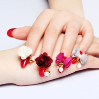 Wholesale 10pcs The latest Japanese nail jewelry detachable magnet base cotton cloth flower bow pendant charm magnet attraction