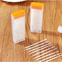 Wholesale Portable Toothpicks Plastic Plus Brush In Clear Case Korean Eco friendly No Smell Toothpick