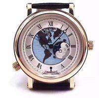 bg watch - BG HORA MUNDI automatic watch mm LUXURY men s wristwatch genuine leather strap TIME ZONE GMT business watches PT AS ZU