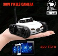 Wholesale RC Mini Tank Car I Spy with Video MP Camera WiFi Remote Control By Iphone Android Robot with Camera CH APP