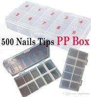 Wholesale Wholesales tips Nails Art Tips box PP Box package box Translucent UNBreak Nail Tips case