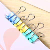Wholesale 15 mm dovetail clamp binder tail clip Office School Supplies Colorful stationery iron