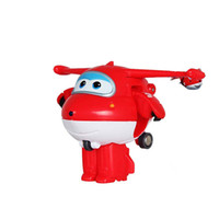 Wholesale 2016 Super Wings Mini Airplane Action Toy Figures Transformation Robot Jet Animation Children Gift nice toy