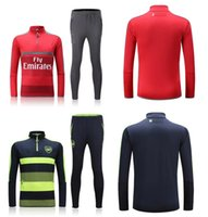 arsenal training - 16 Arsenal red dark blue sweater tracksuit Sportswear training Suits men s Clothes Trackring suits Male Hoodies mix order