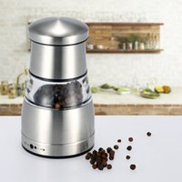 Wholesale New Stainless Steel Portable Manual Pepper Grinder Muller Mill Kitchen Accessories Cooking Seasoning Grinding Tool DHL H16937