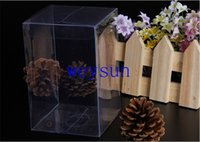 Wholesale 9 cm large clear plastic boxes display clear plastic PVC boxes Plastic folding gift box