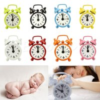 analog desk - Mini Alarm Clock Round Number Dial Home Outdoor Portable Cute Desk Clock House Decoration Children Girl Christmas Gift
