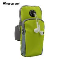 Wholesale Runing Arm Bag Phone Holder Jogging GYM Adjustable Waterproof ArmBand Cover Wallet Bolsa Deporte Sport Riding Bike Cycling Bags
