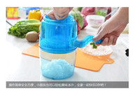 ice shaving machine - manual ice crusher shaved ice machine hand shaved ice machine household smoothies milk tea ice cream machine160613