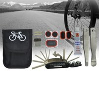 Wholesale clearance stock Portable Cycling Bike Bicycle Tyre Repair Kit Tool Bag with Multi function Tool