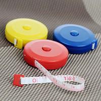 Wholesale 10pcs Convenient and practical retractable tape measure plastic tape measure clothing feet soft feet