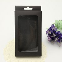 Wholesale 50pcs Printing Black Paper Packing Box Box For Phone Case iPhone s PLUS Samsung Galaxy Box With Inner Factory
