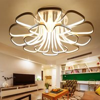 artistic style - Ceiling lights W W W led modern style artistic pendant light fixture for living room led ceiling lights metal Acrylic CE ROHS