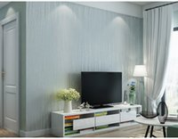 Wholesale Hot Selling Moonlight Forest Non woven wallpaper Simple style living room background wall striped wallpaper for home decoration free shippin