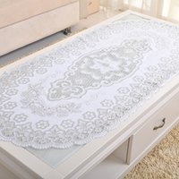 Wholesale PVC Round Nappe Table Cloth Plastic Oilproof Dining Tablecloth Bronzing Printed Table Cover Mat Overlay Placemat Nappe No clean