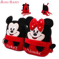 Wholesale Cool New Mickey and Minne Kid Bag Backpack Children School Bag For Girl Boy Student School Backpack Mochila Infantil