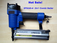 Wholesale Promotion price on in combination air nailer stapler F5040 A pneumatic nailer stapler straight nail and crown nail