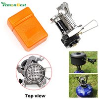 Wholesale Outdoor Picnic Cookout BBQ Gas cooker cool tools Portable Camping Mini Steel Stove Case Cooker