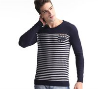 best mens sweaters - Best Quality Mens Sweaters Fashion Striped Pullover Sweater Long Sleeve Bottoming Sweatshirt Sports Knit Shirt Sweater Coat