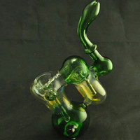glass sink - Portable Glass Bubbler Oil Pipes Water Glass Pipe Oil Burner Double Recycler Double Sink Glass Pipe Glass Smoking Water Pipe Bent Pipes